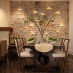 стена возле стола на кухне фото дизайна