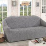 еврочехол на диван серый