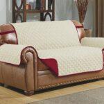еврочехол на диван белый с красным