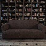 еврочехол на диван серый темный