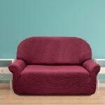 еврочехол на диван темный розовый