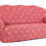 еврочехол на диван розовый с рисунком