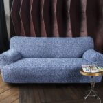 еврочехол на диван синий светлый