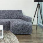 еврочехол на диван серый пестрый