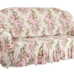 еврочехол на диван с цветами