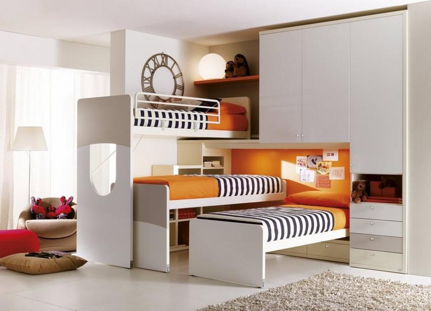 шкаф кровать трансформер для троих детей