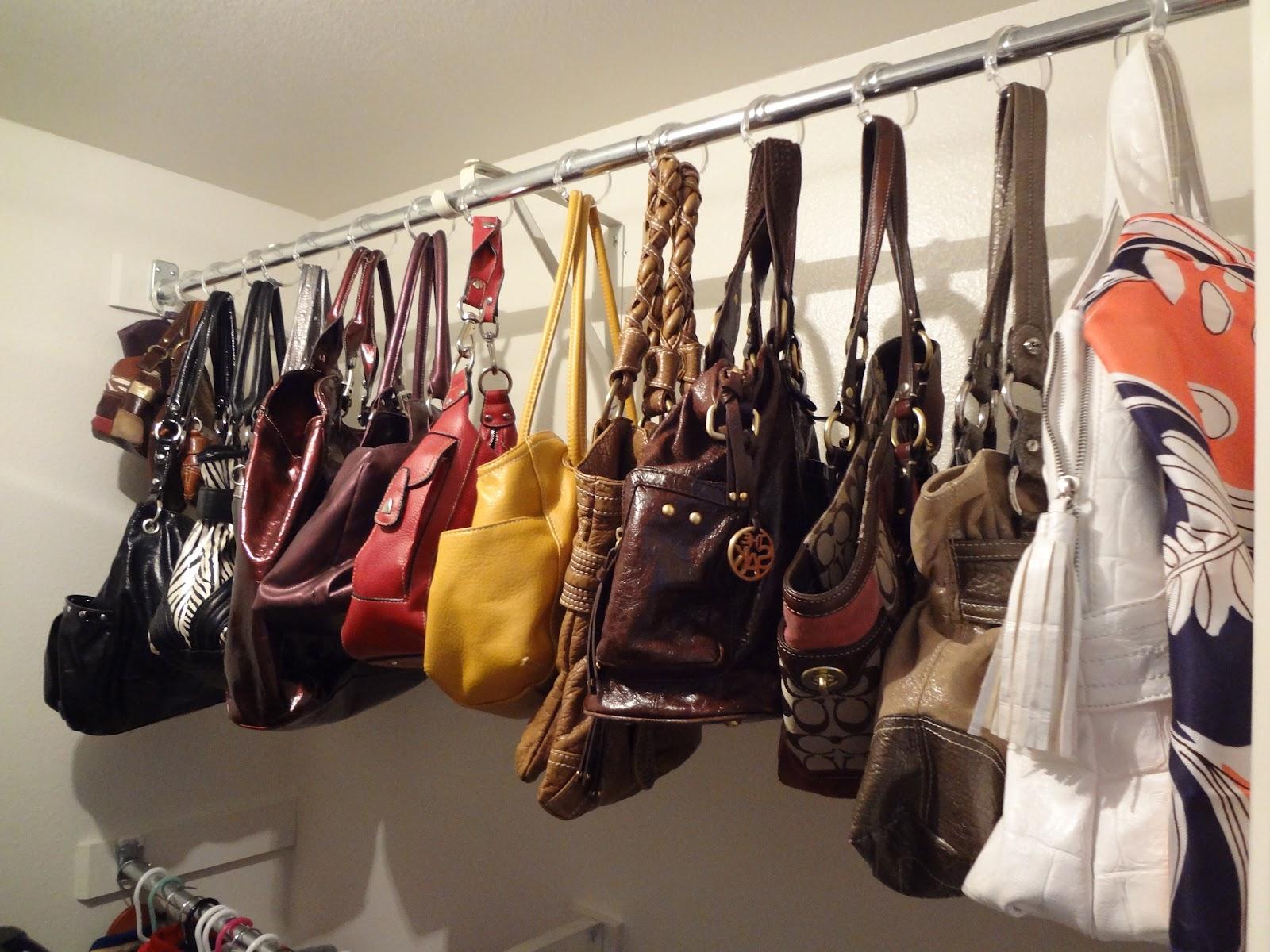 хранение сумок в шкафу
