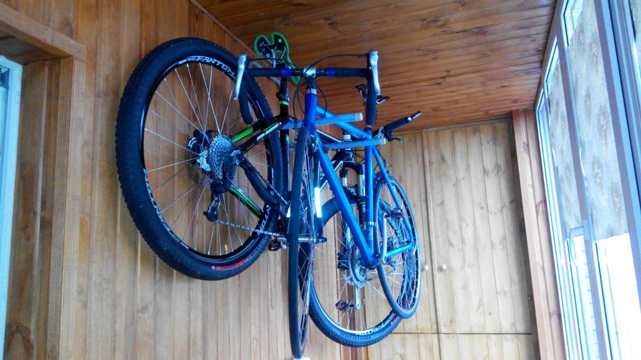 хранить велосипед на балконе