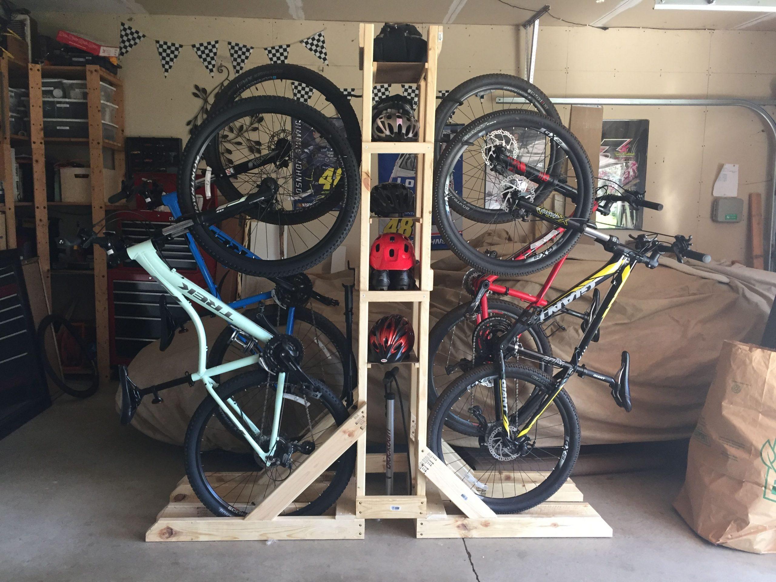 хранить велосипед в гараже