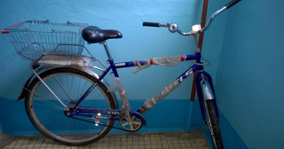 хранить велосипед в общем тамбуре