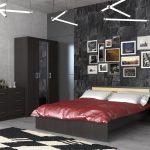 темная спальня в интерьере