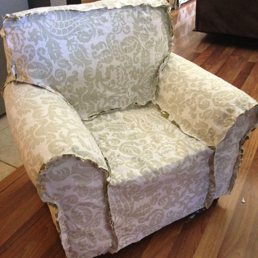 изготовление чехла для кресла