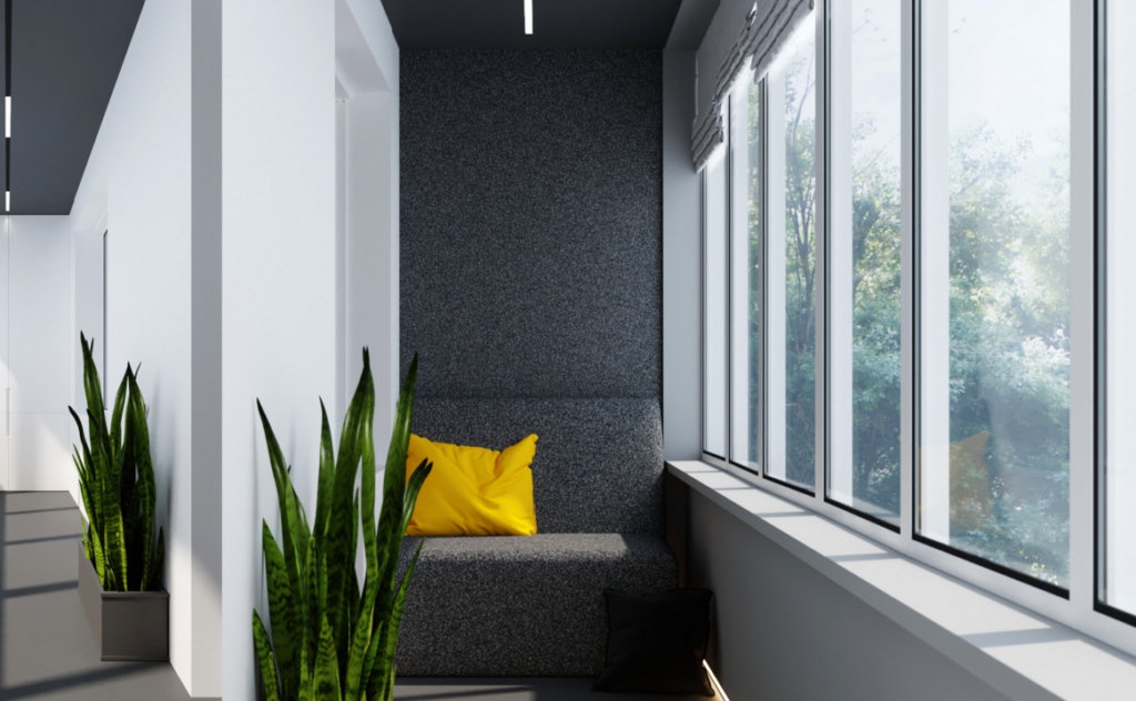 минимализм в дизайне балкона