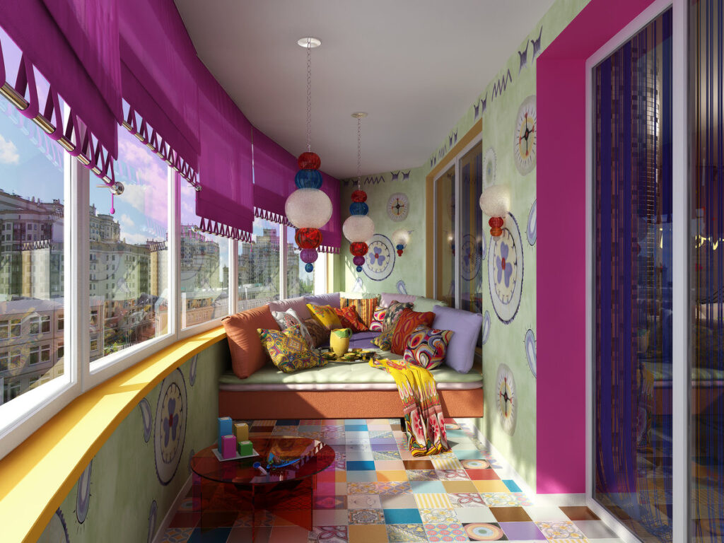 игровая комната на балконе