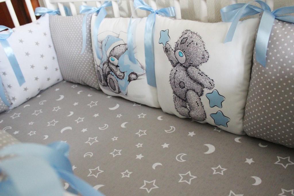 как сшить подушки-бортики