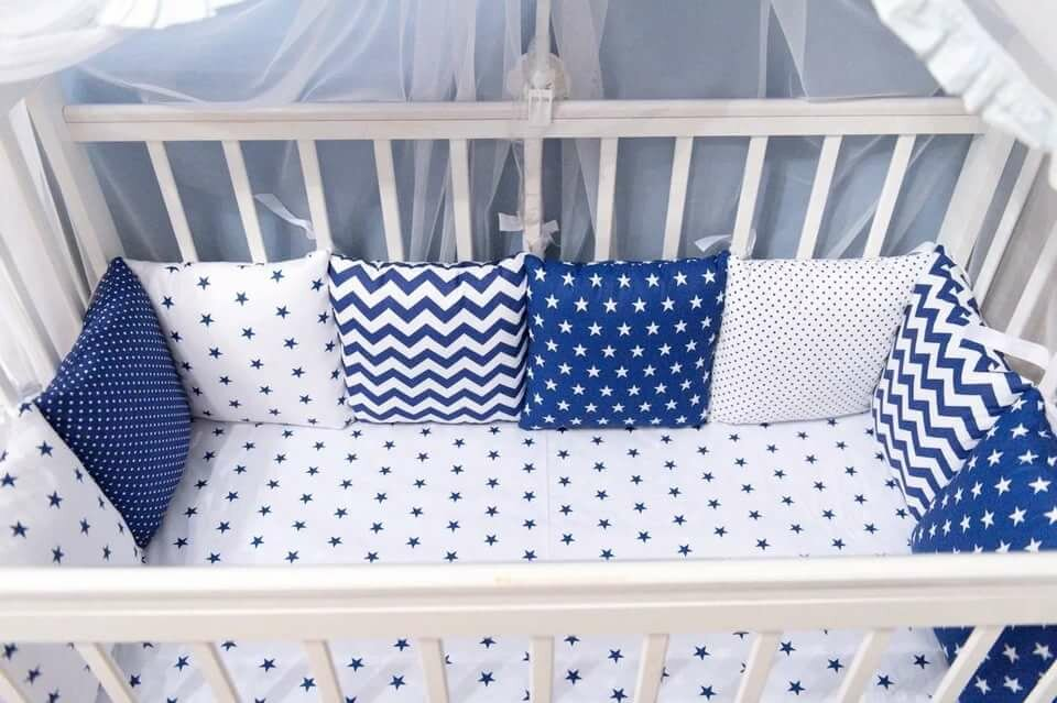 как выбрать ткань для бортиков к кровать младенца