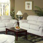 диван белый с креслом