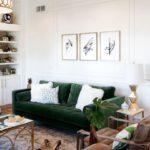 диван зеленый велюровый