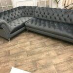 диван серый большой
