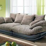 диван полукруглый серый