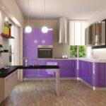 фасад кухни фиолет