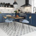 фасад кухни темно-синяя