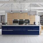 фасад кухни синяя