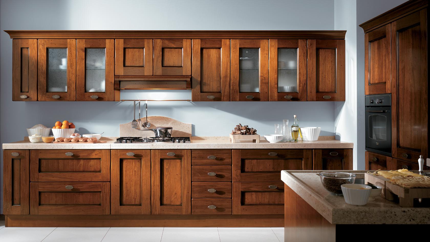 деревянной кухни