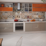 фасад кухни оранжевая
