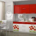 фасад кухни красная