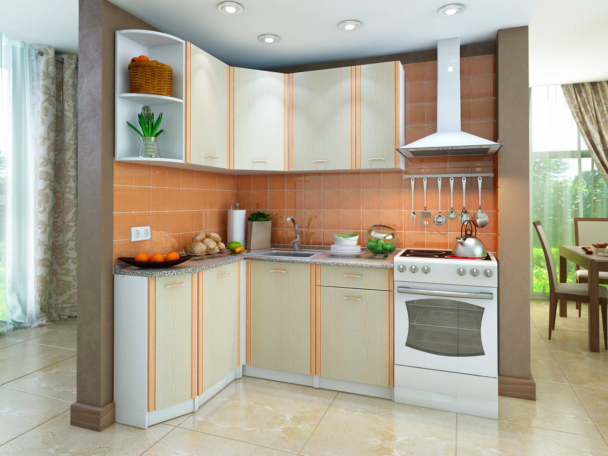 встроенная кухня на заказ фото