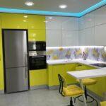 фасад кухни желтый