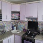 фасад кухни розовая