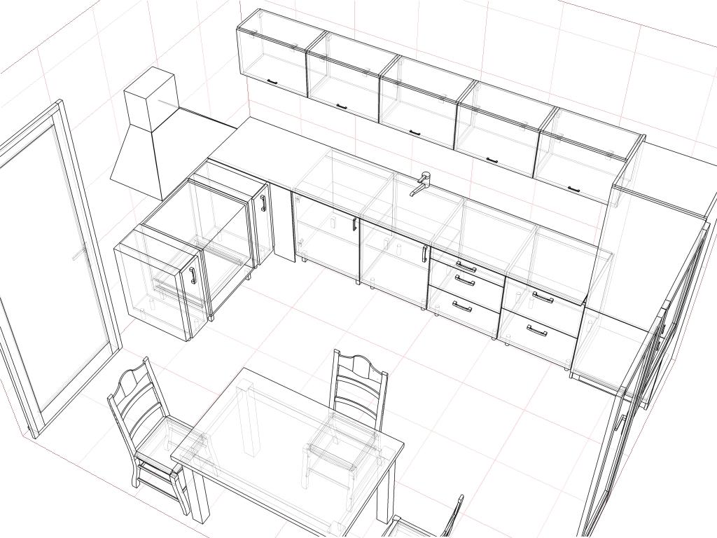 схема планировка кухни