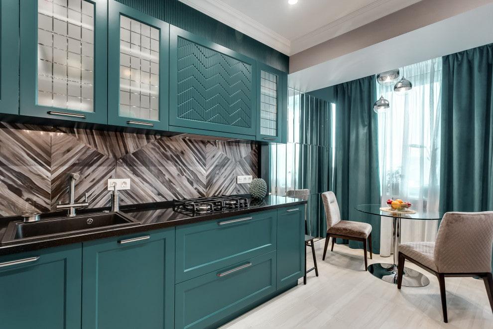 необычный цвет кухонного гарнитура