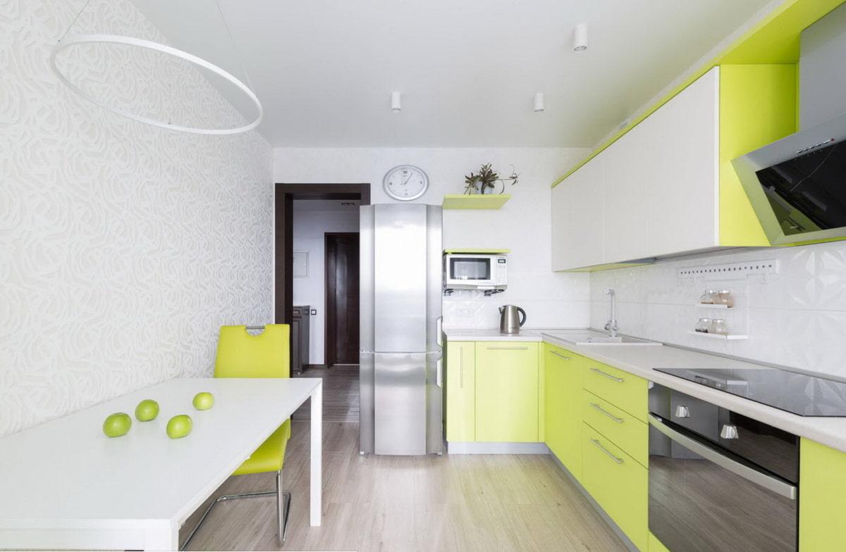 кухонный гарнитур лимонного цвета