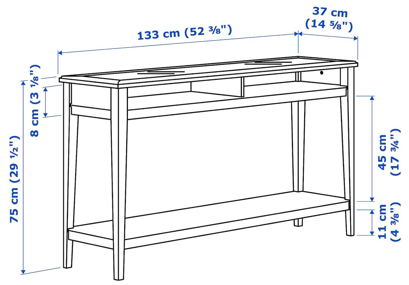 консольный столик чертеж