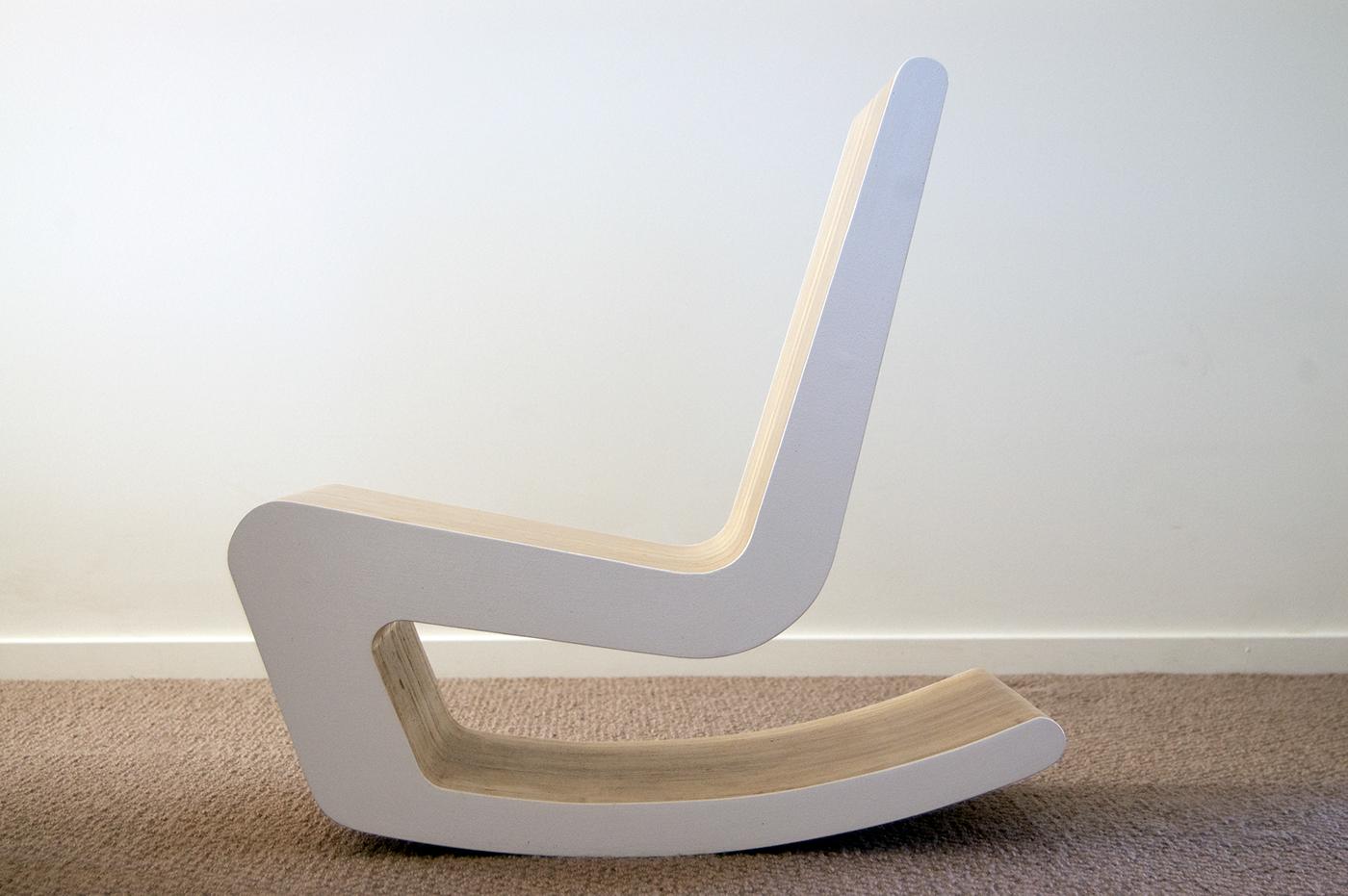 кресло из фанеры качалка