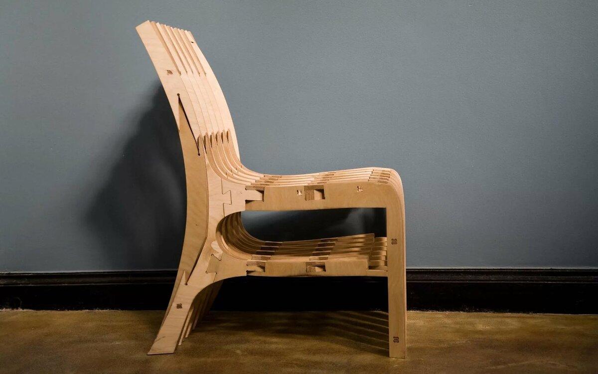 кресло из фанеры сборка