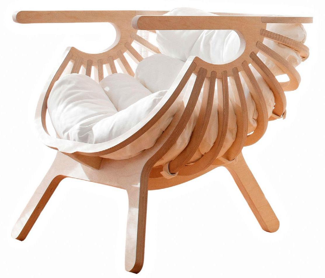 кресло ракушка из фанеры