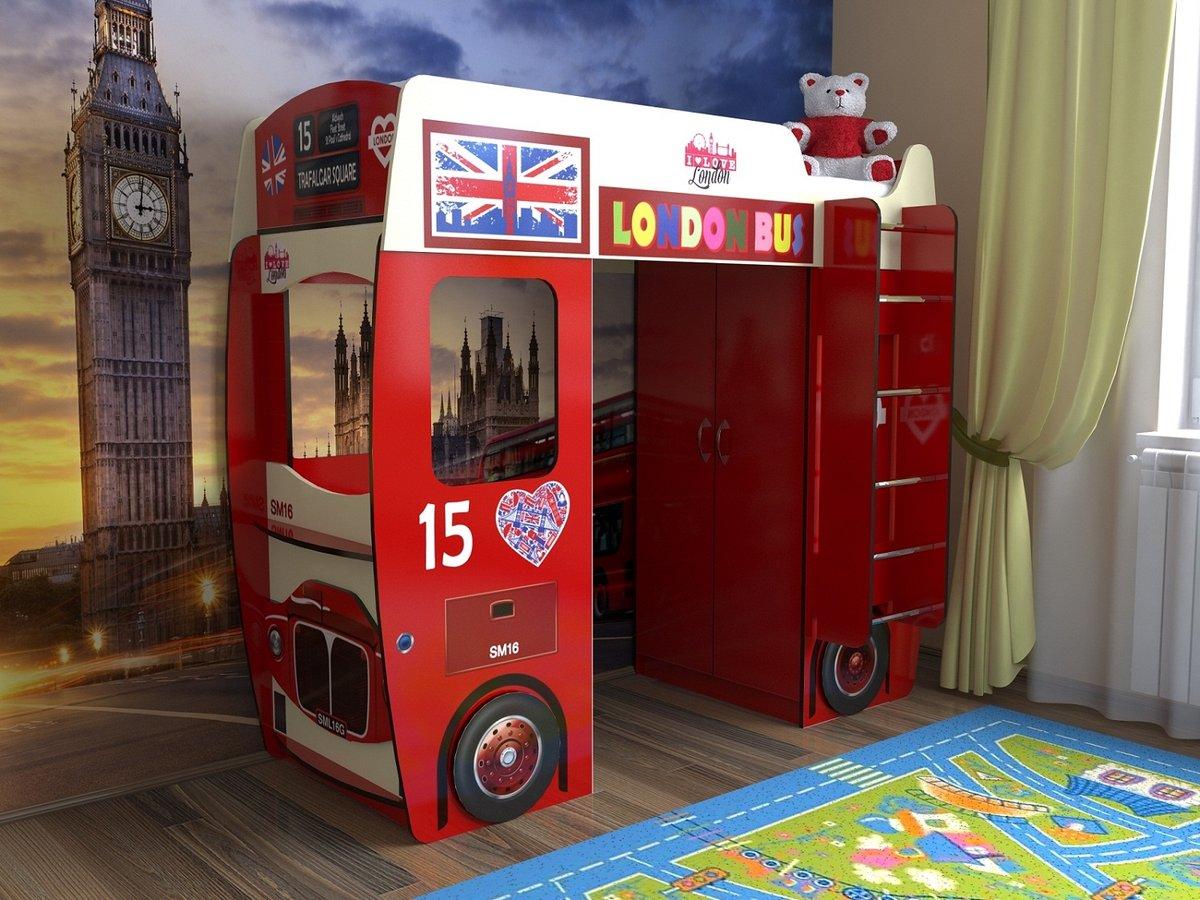 кровать чердак автобус