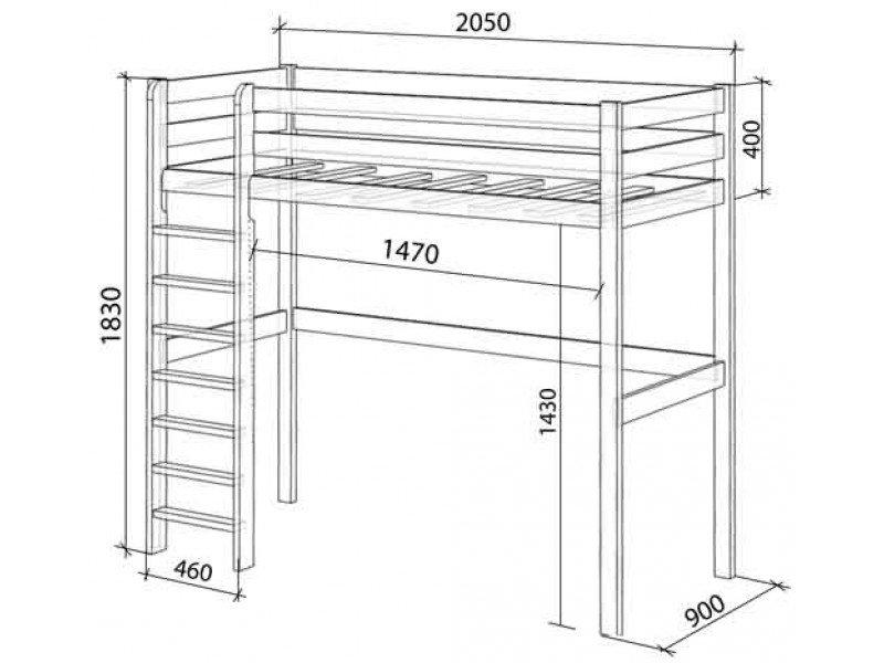 кровать чердак схема