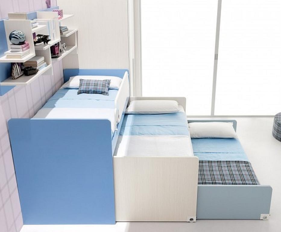 кровать выдвижная для троих детей