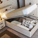 кровать с подъёмным механизмом идеи интерьера