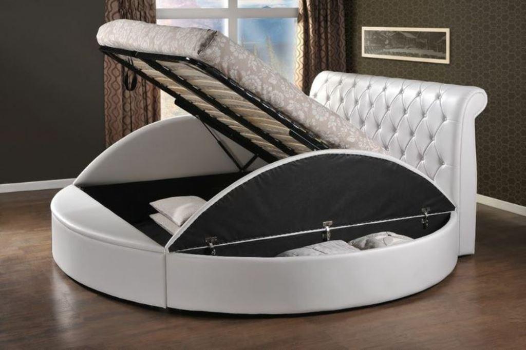 кровать с подъемным механизмом круглая