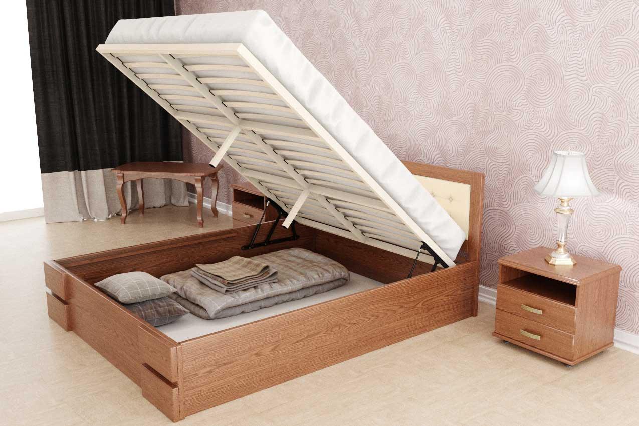 кровать с подъемным механизмом оформление
