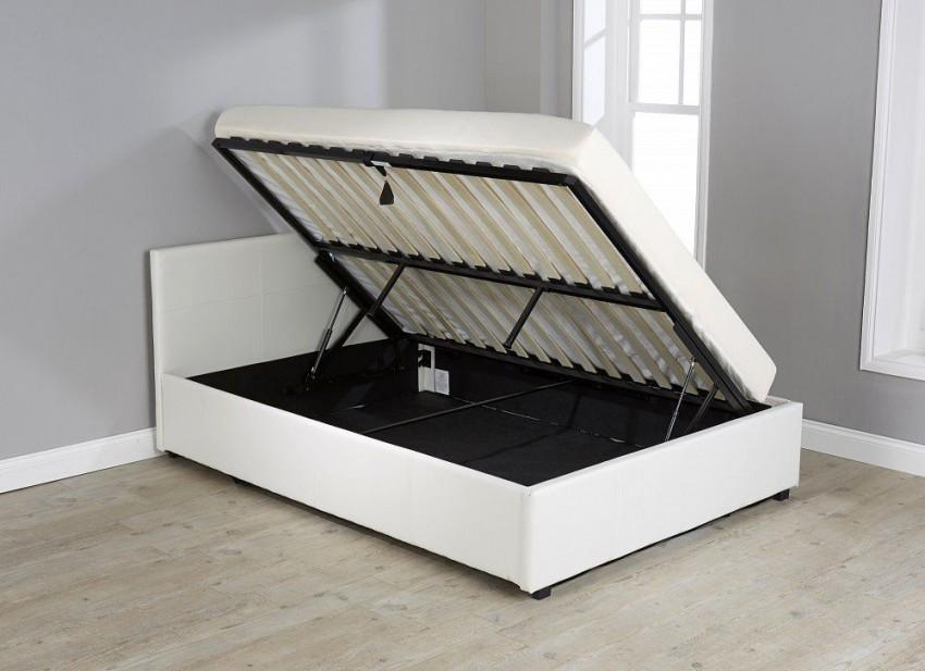 кровать с подъемным механизмом сбоку