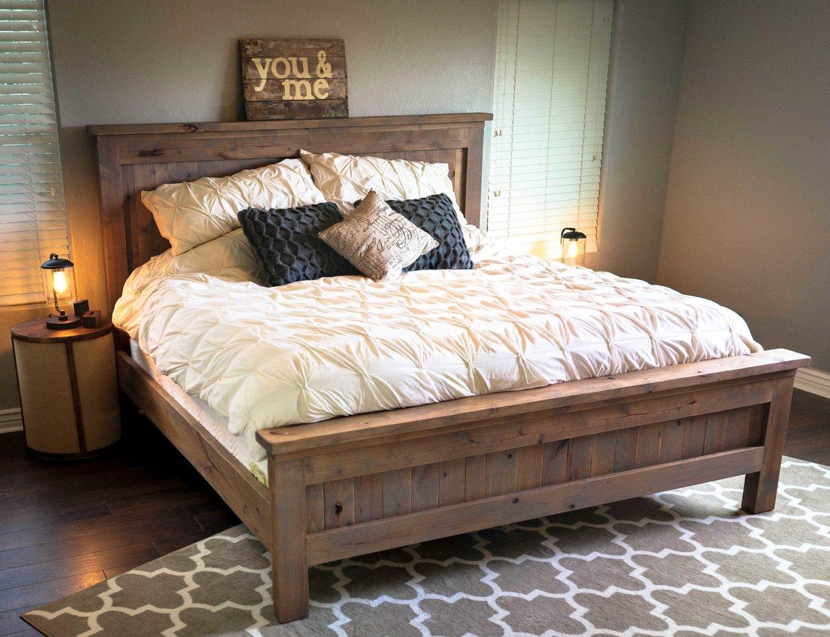 двуспальная кровать из дерева своими руками фото изготовления, особенности применения
