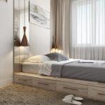 кровать у окна в спальне идеи интерьер