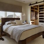 кровать у окна в спальне идеи оформление